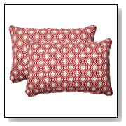 Pillow Perfect Indoor/Outdoor Zinger Corded Oversized Rectangular Throw Pillow