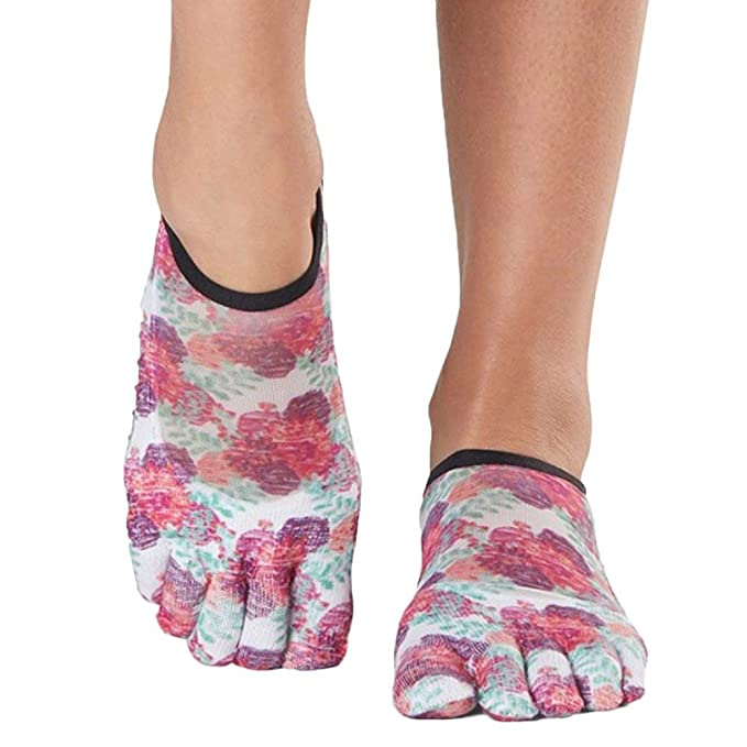Toesox Grip Pilates Barre Socks-Non Slip Luna Full Toe for ...