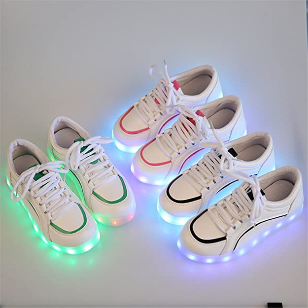 24XOmx55S99 Dance Kids USB Charging 7 Colors LED Light up Breathable Sports Shoes Flashing Sneakers