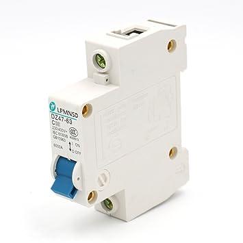 Amazon.com: Baomain Circuit Breaker DZ47-63 C20 20 Amp 230/400VAC ...