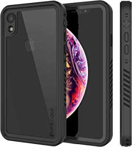 iPhone XR Waterproof Case, Punkcase [Extreme Series] [Slim Fit] [IP68 Certified] [Shockproof] [Snowproof] Armor Cover W/Built in Screen Protector Compatible W/Apple iPhone XR [Black]