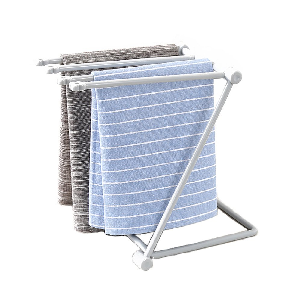 VANRA Foldable Rag Rack Wash Cloth Dishcloth Hanger Holder Kitchen Draining Organizer Cup Drying Rack (Gray) 30000133