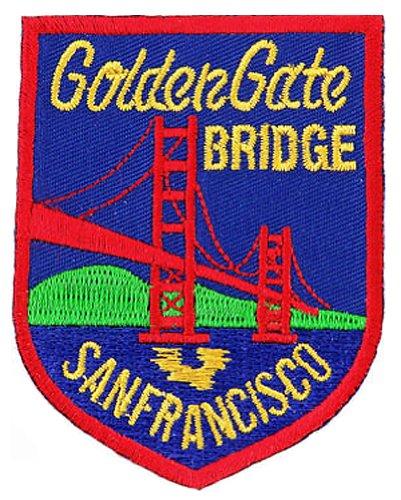 Golden Gate Bridge Embroidered Patch San Francisco Iron-On Souvenir ()