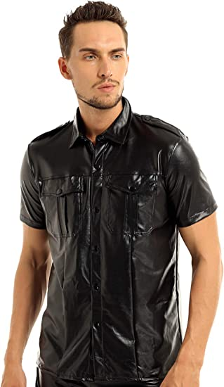 Men/'s Sheep Leather Shorts Soft Black with Strips Half Pant Gay Club Wear Shorts