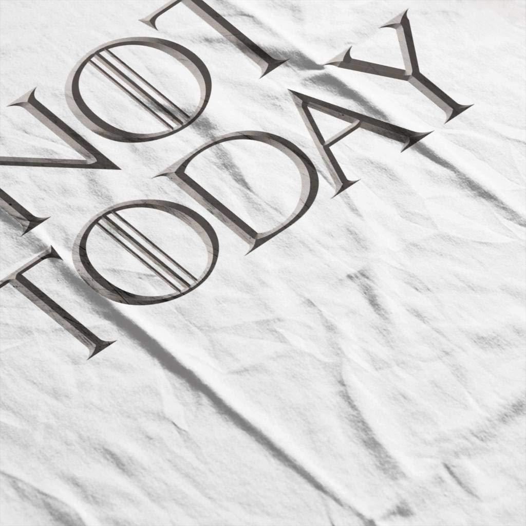 Game of Thrones Arya Stark Not Today Mens Hooded Sweatshirt