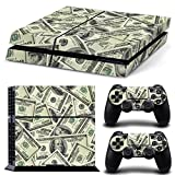 GoldenDeal PS4 Console and DualShock 4 Controller Skin Set - Dollar Money Design - PlayStation 4 Vinyl Dolar Bills Bucks