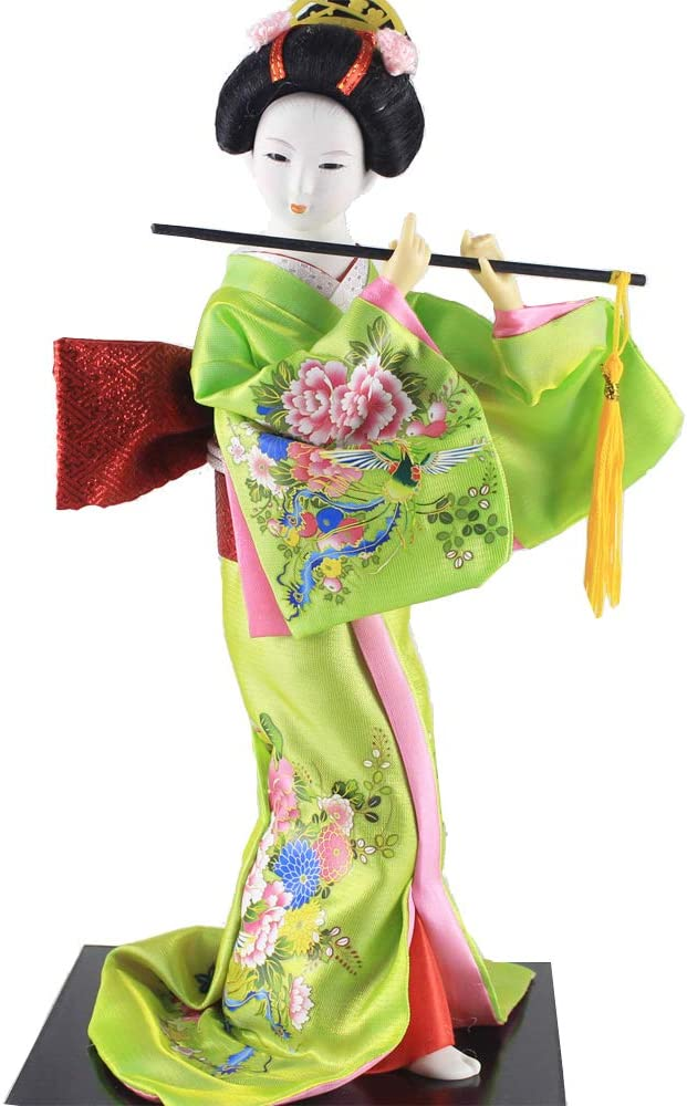 Heartrace 30cm Oriental Japanese Ethnic Japan furnishings Kimono Kabuki Geisha Doll Birthday/Xmas/Business Gift Figurine Girl Statue…