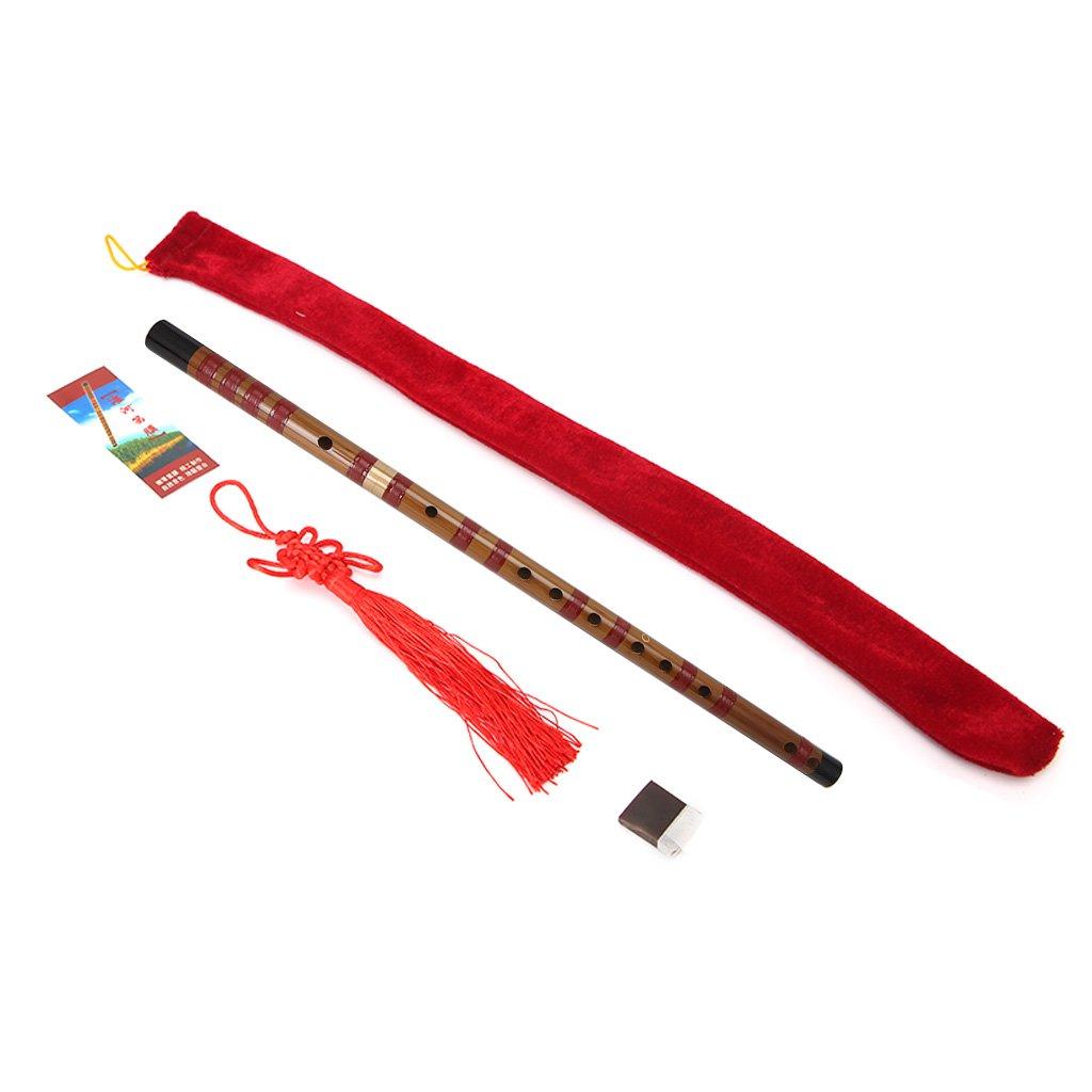ULKEME C D E F G Key Pluggable Traditional Bamboo Flute Chinese Dizi Musical Instrument (C)
