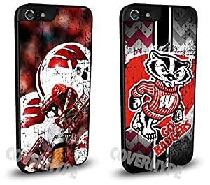 Wisconsin Badgers Cell Phone Hard Plastic Case TWO PACK for iphone 6 plus 5.5