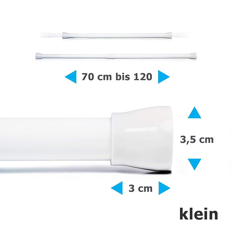 70-120 cm Aluminio etc Vestidos Springreen Barra telesc/ópica Cortinas de Ducha Blanco