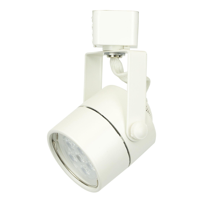 Dash N Direct D&D Brand H System GU10 Line Voltage Track Lighting Fixture White HTC-9154-WH (No Bulb)