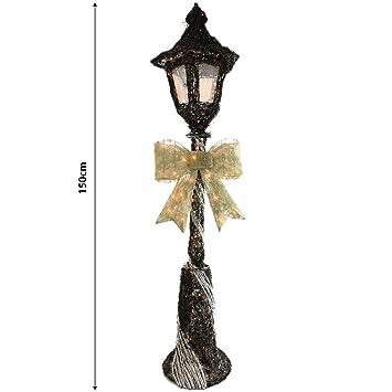 festive black sliver sparkly rattan 150cm lamp post christmas decoration