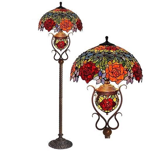 XNCH Lámpara de pie de Estilo Tiffany/Planta Madre Lámpara de Mesa ...