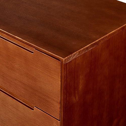 MUSEHOMEINC California Mid-Century Wood 3-Drawer Dresser,Storage Night Stand,Entryway Chest