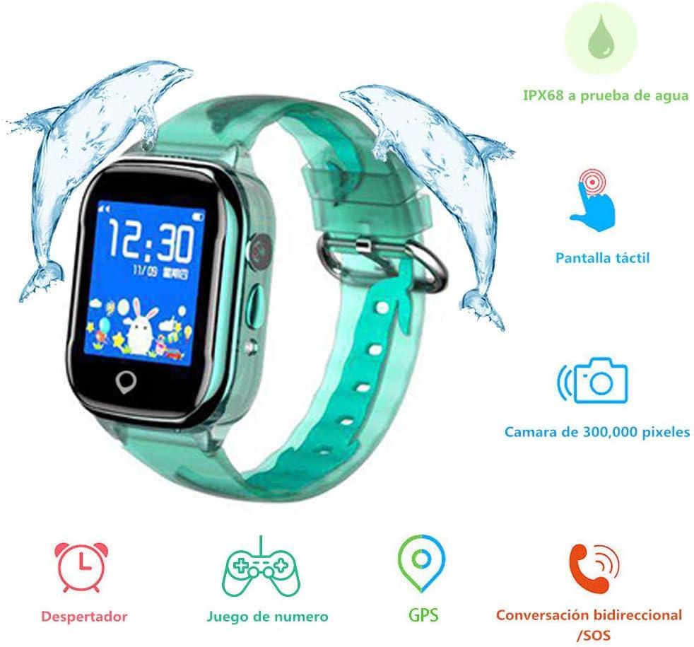 SmartWatch Niños, MUSSON Reloj Inteligente Niños, IPX68 Impermeable GPS Rastreador SIM Phone 1.44 Inch LCD Pantalla Táctil Móvil, Llamada SOS Cámara Despertador Anti-Lost CE51