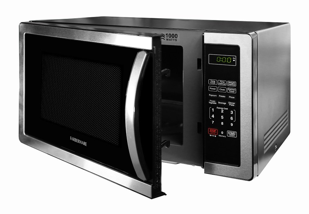 Farberware FMWO11AHTBKB Classic FMO11AHTBKB 1.1 Cubic Foot 1000-Watt Microwave Oven, Stainless Steel by Farberware (Image #5)