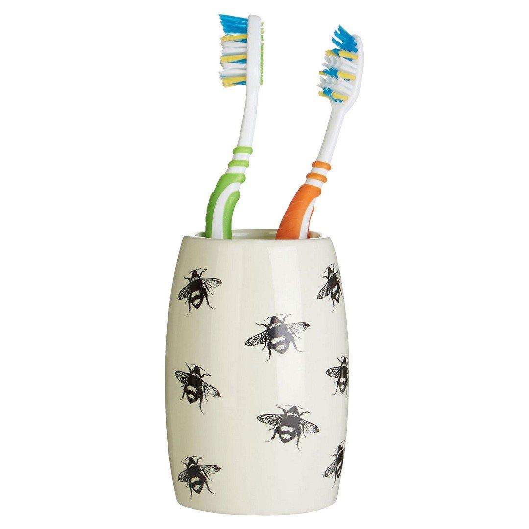 Protege Reina abeja 3pc cuarto de baño Set, Natural/Negro, cerámica: Amazon.es: Hogar