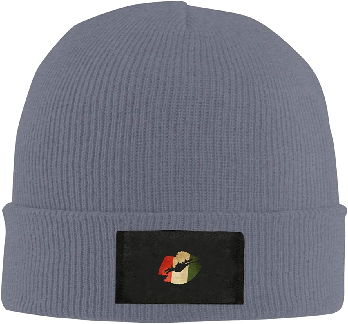 LRHUI Italian Flag Lip Winter Knitted Hat Warm Wool Skull Beanie Cap