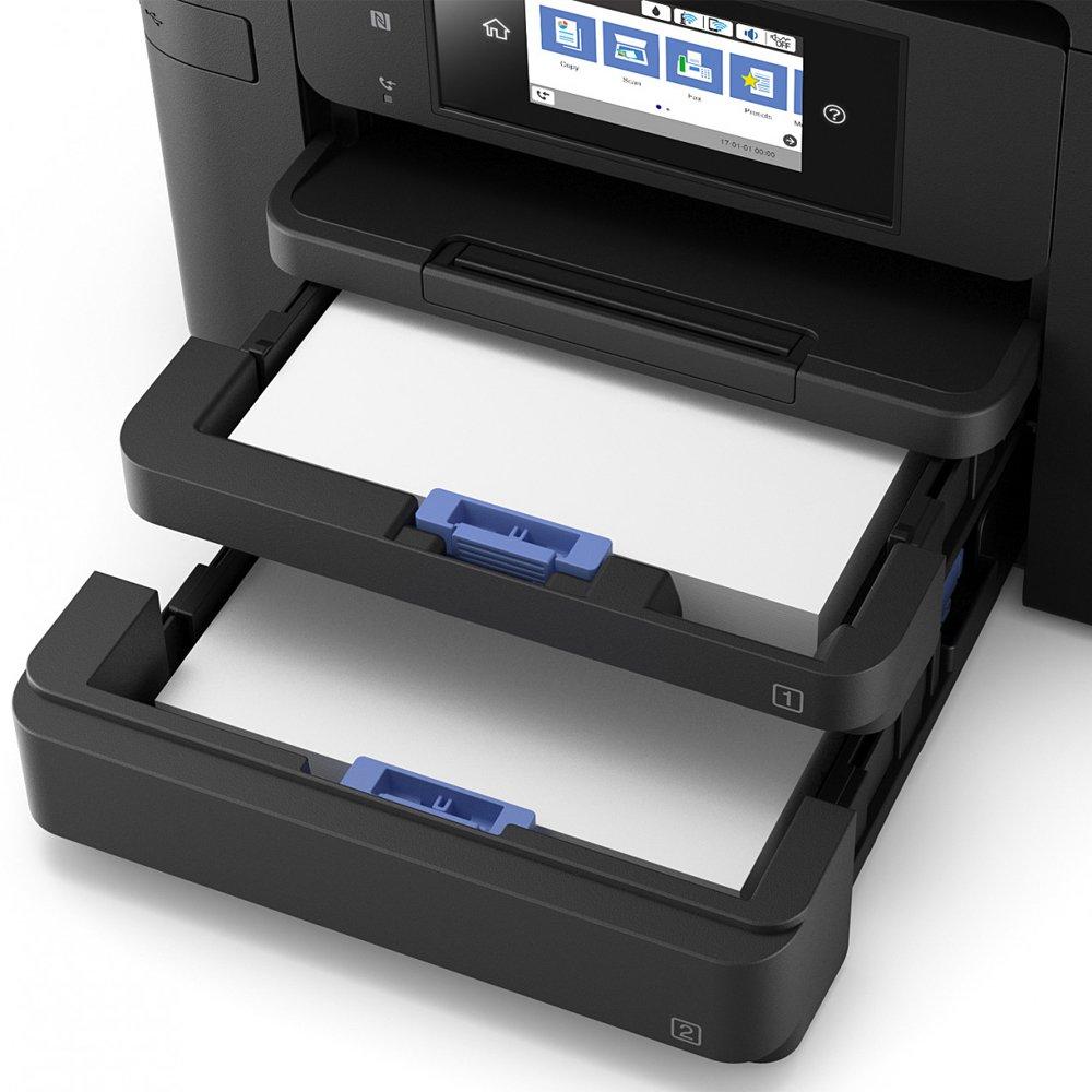 Drucker, Scanner, Kopierer, Fax, ADF, WiFi, Ethernet, NFC, Duplex, Einzelpatronen, DIN A4 Epson WorkForce Pro WF-4740DTWF 4-in-1 Business Tintenstrahl-Multifunktionsger/ät schwarz