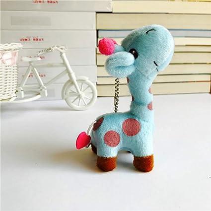 FJYDHR Jirafa Anime Stuffed Plush Dolls Cadena Colgante ...