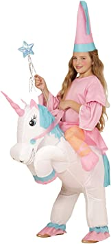 Amakando Traje Caballo niño Inflable Disfraz Unicornio Hinchable ...