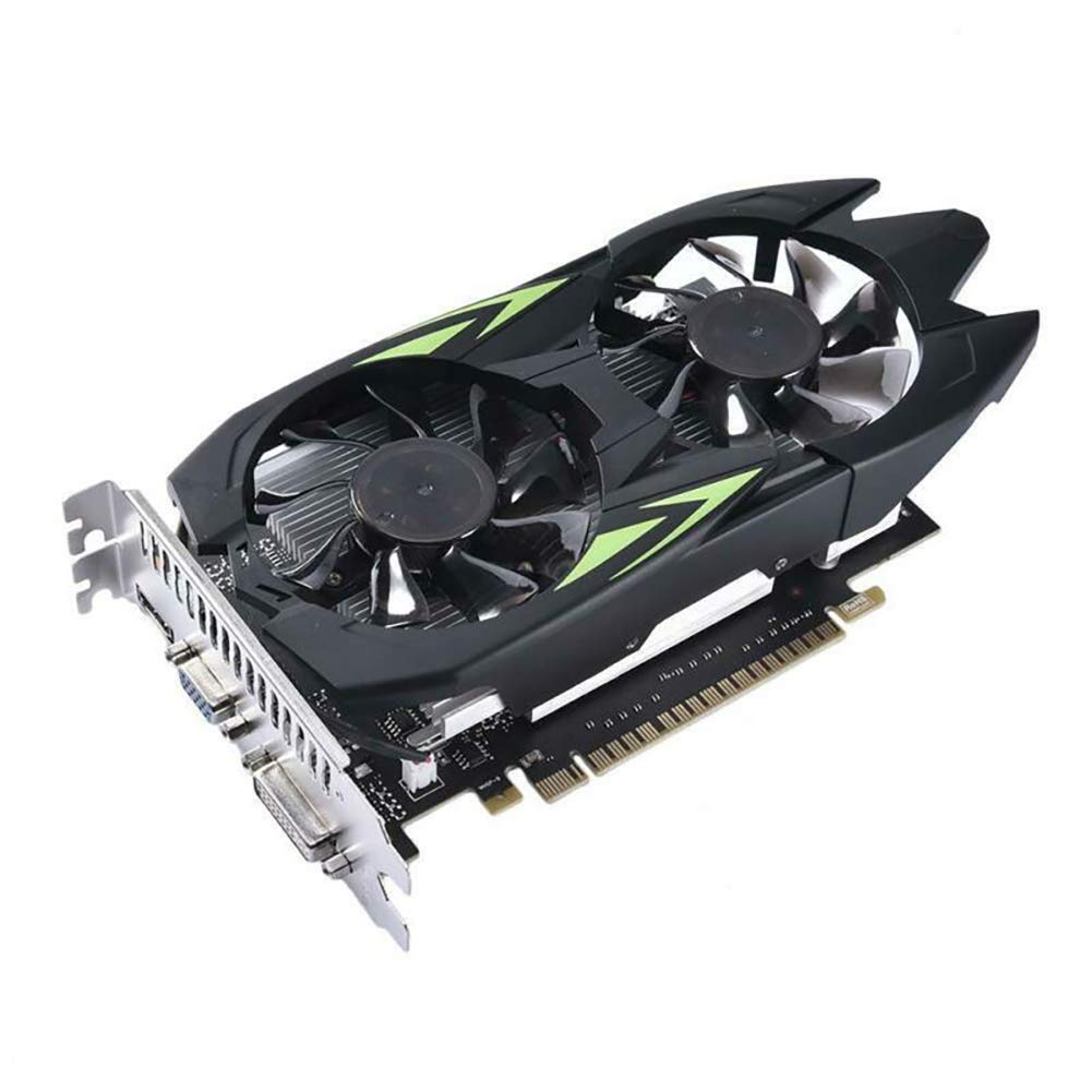 Angmile Computer Graphics Cards Compatible with GTX550TI Modified Card GTX1050Ti 4G DDR5 Desktop PC Practical Dual Fan Cooling Graphics Cards by Angmile
