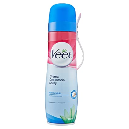 Veet - Crema depilatoria spray delicada piel 150 ml