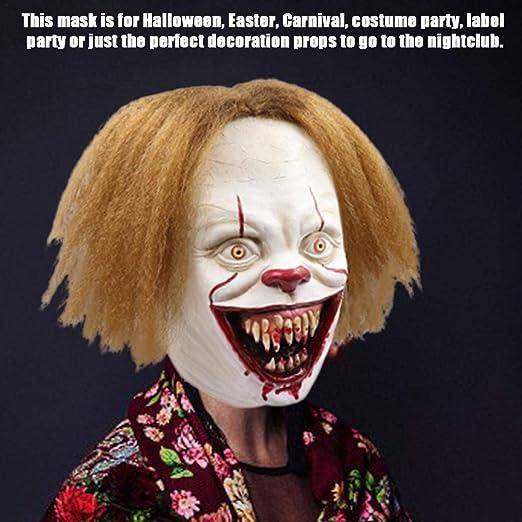 xiliary Halloween Cosplay Máscara Adulto Horror Payaso Joker Látex ...