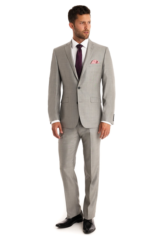 Love Dress Tailored Fit Grey Suit Wedding Dress (Jacket Pant Tie) 5XL
