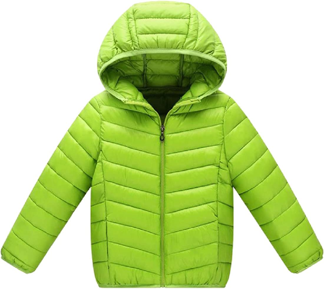 Colourful Kids Lightweight Fit Hood Zip-Up Solid Down Outerwear Snowsuit