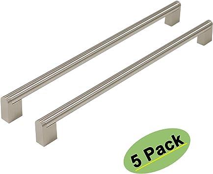 2 unidades 96 mm Tiradores de acero inoxidable para puerta de armario de cocina acero inoxidable n/íquel cepillado armario de cocina