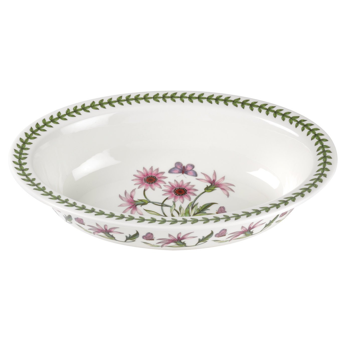 Portmeirion Botanic Garden Treasure Flower Oval Pie Dish