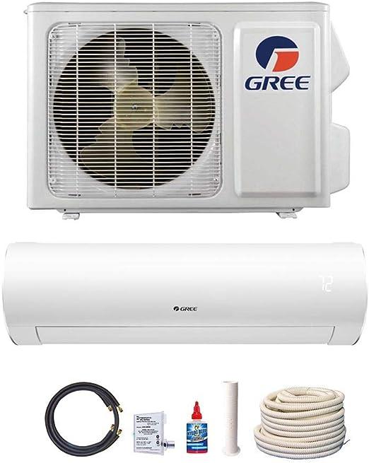 Amazon.com: GREE 9,000 BTU 38 SEER Sapphire Wall Mount Ductless Mini Split Air Conditioner Heat Pump 208/230V - Comfort Value Kit: Home & Kitchen