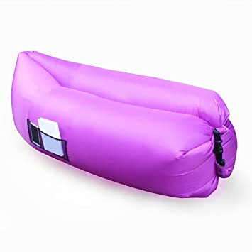 Fast hinchable Hangout aire saco de dormir cama para Camping Playa sofá Banana sacos de dormir