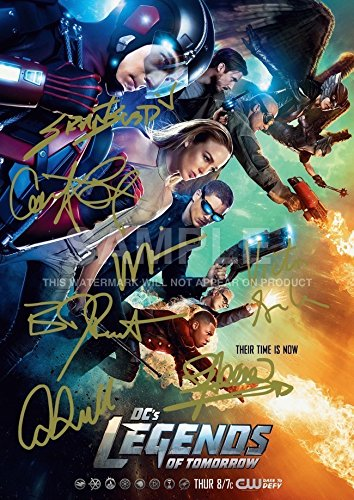 Iconic Images Large Legends Of Tomorrow Dc Print Brandon Routh  Victor Garber  Stephen Amell  Grant Gustin  Caity Lotz  Arthur Darvill  Wentworth Miller  11 7  X 16 5