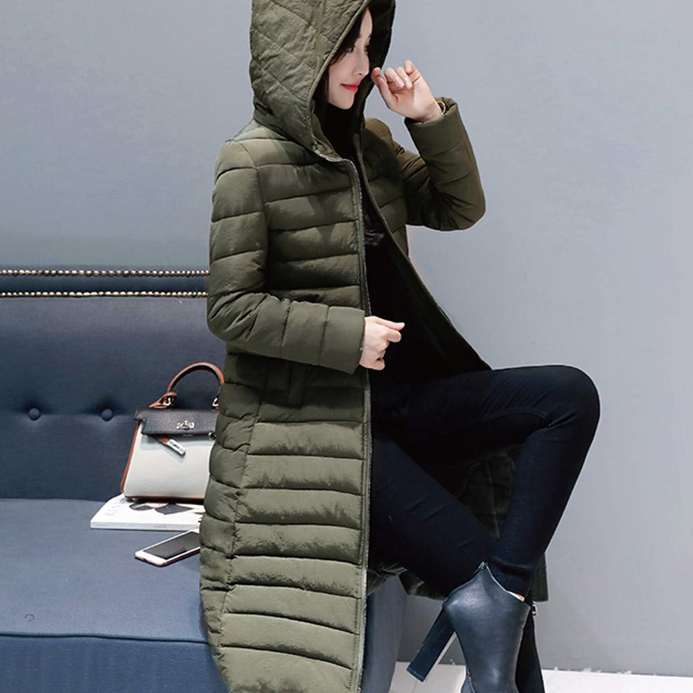 Amazon.com: Womens Coats Winter Besde Womens Fashion Casual Warm Lightweight Solid Hooded Outwear Warm Coat Long Thicker Cotton Parka Slim Jacket: Garden ...