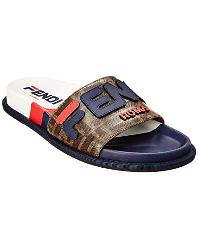 8886cc8e Amazon.com   Fendi Mania Leather Slide, 36, Brown   Shoes