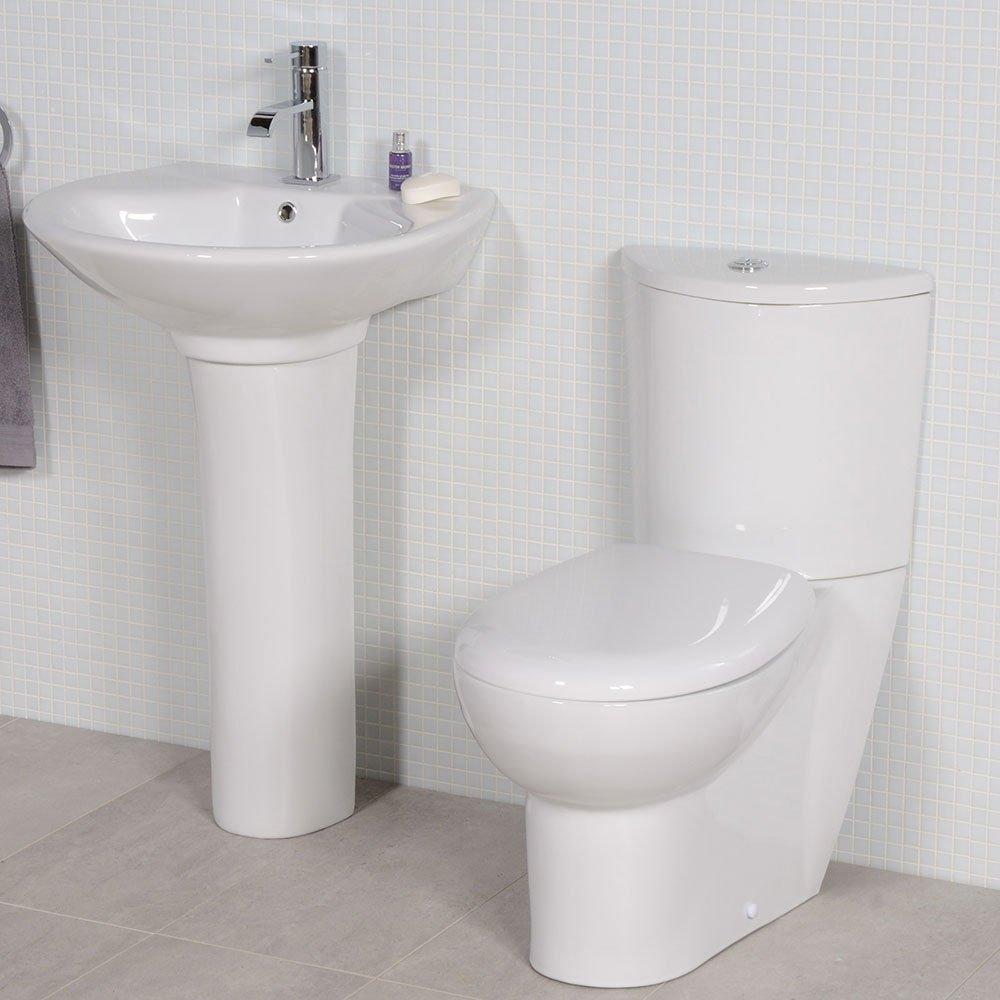 Toilet Basin Sink Set Bathroom Suite White Ceramic Better Bathrooms Outlet