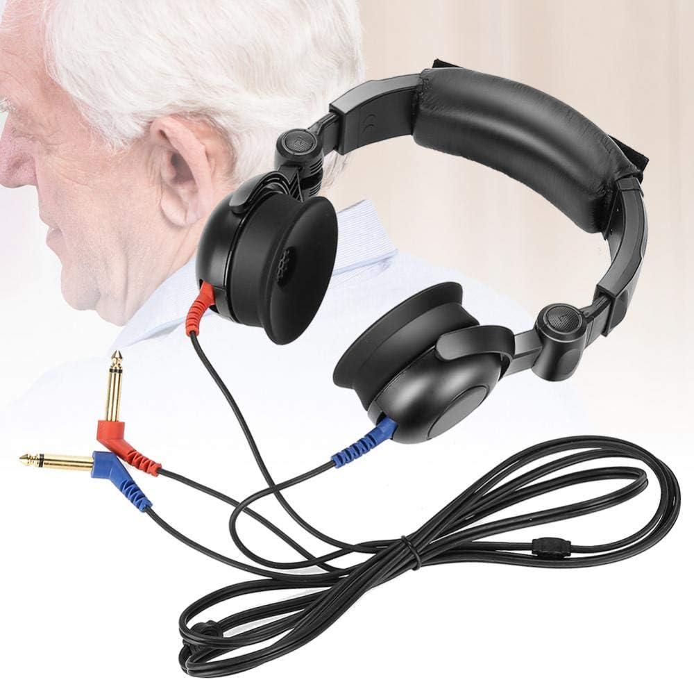 Simlug Auriculares para audiómetro, Prueba de audición audiométrica Audífonos Audiómetro de conducción de Aire para Prueba de audición