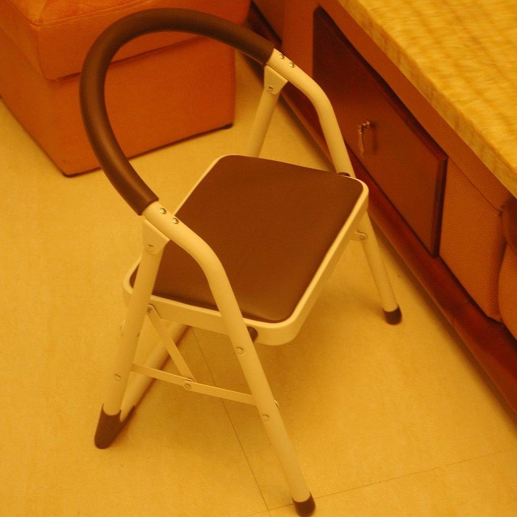WSSF- 折り畳みステップのはしごのスツールパッド付きハンドルグリップの踏み台の安全性ノンスリップヘビーデューティスチールの子供用チェアポータブル家具踏み台のスツールの色オプション、47 * 36 * 54センチメートル (色 : #2) B07BPN997B #2 #2