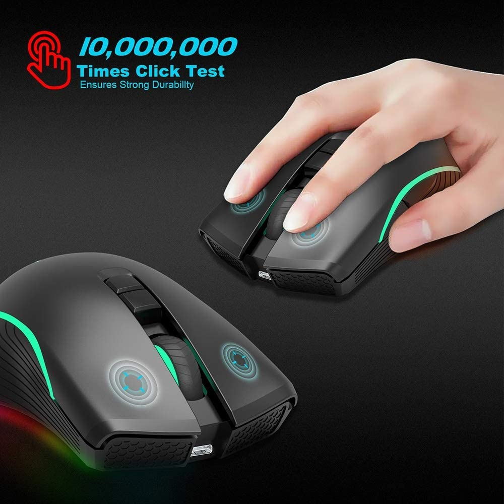 Illuminated Mouse 7-Key Rechargeable Mouse Sdzq 2.4G Wireless Mouse