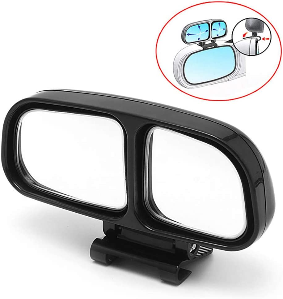 Kolefei 1Pc Universal Car Vehicle Wide Angle Rear Side View Blind Spot Square Mirror for Home Black Left#