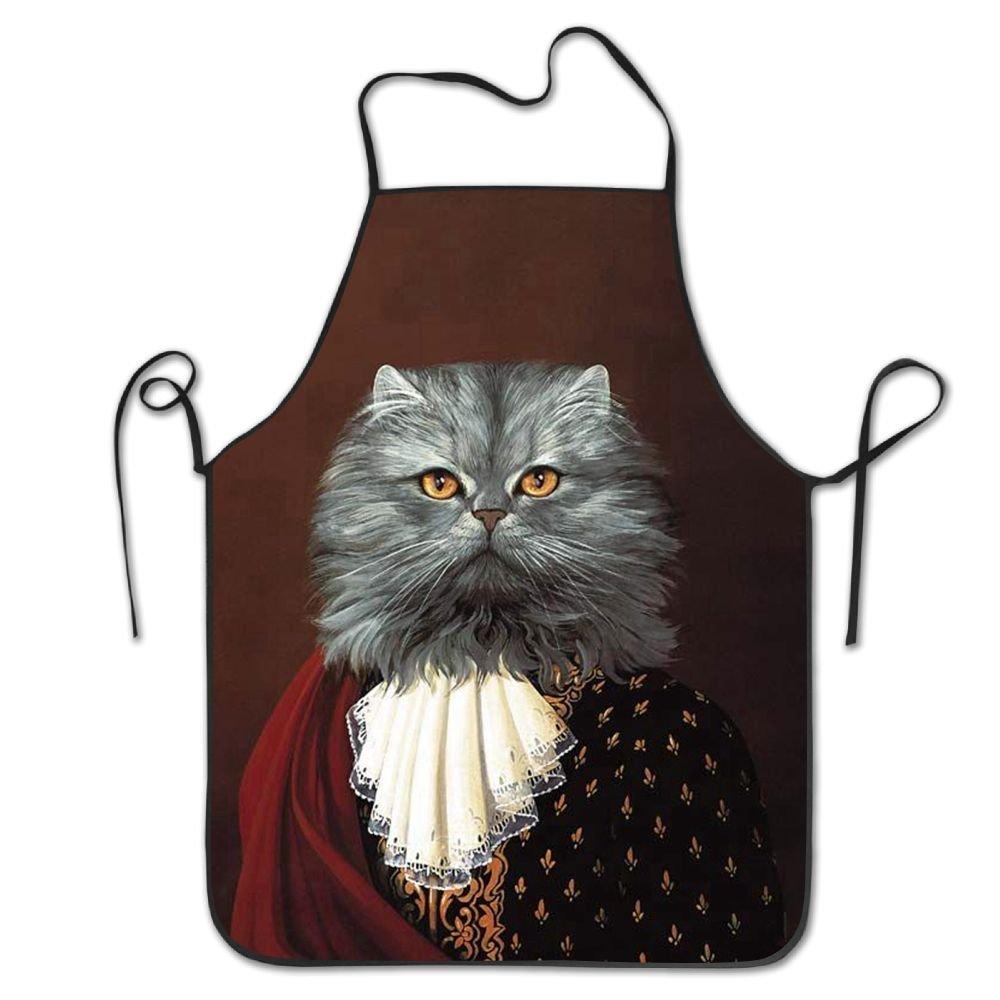 Cat Man女性/男性用動物エプロンよだれかけsave-allグリル料理Attitude Funnyシェフエプロン   B07DHCNN5Z