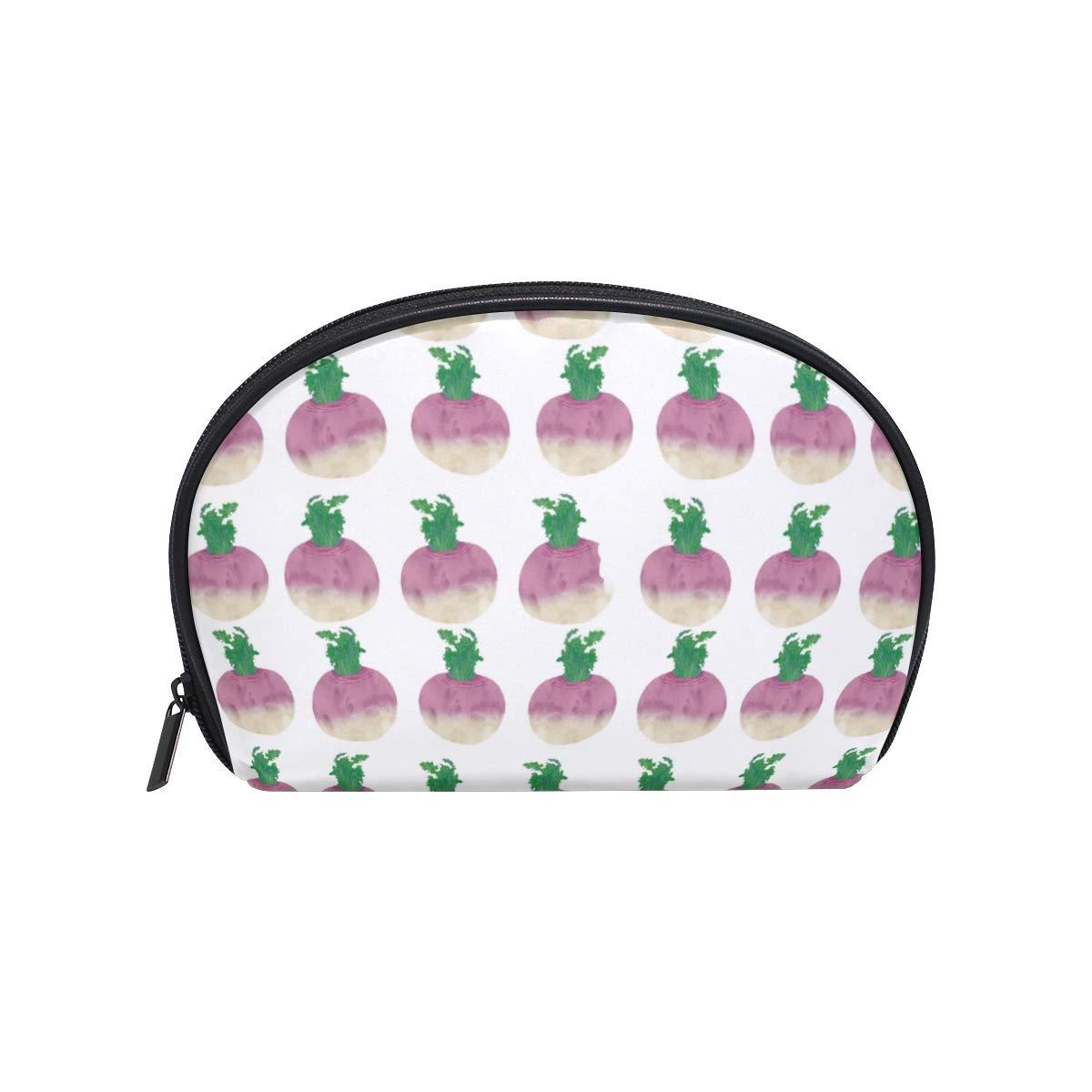 2cd608ea89f2 Amazon.com : Half Moon Cosmetic Beauty Bag Turnip Vegetable Travel ...
