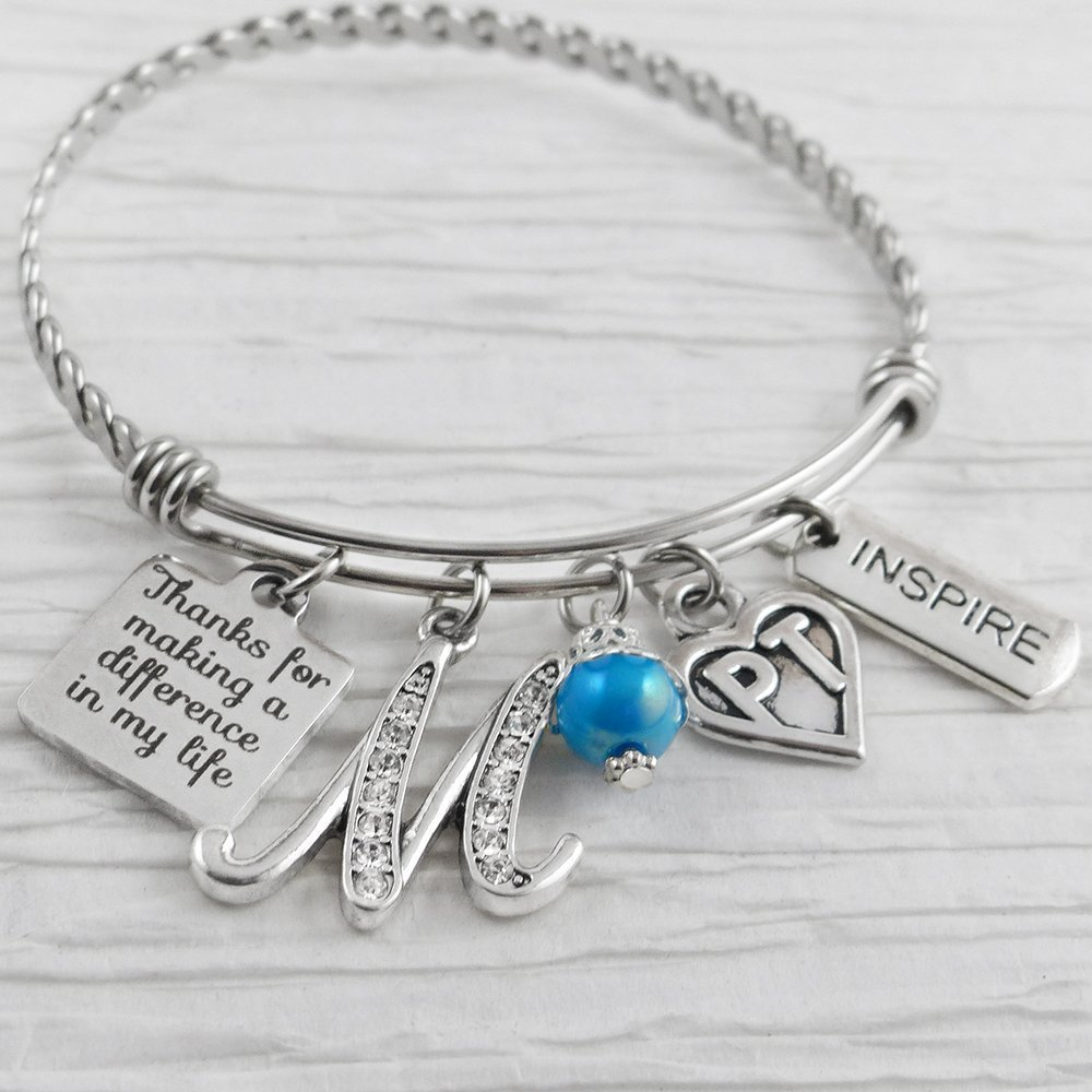 Amazon.com: Physical Therapist Gifts for Women, Bangle Bracelet ...