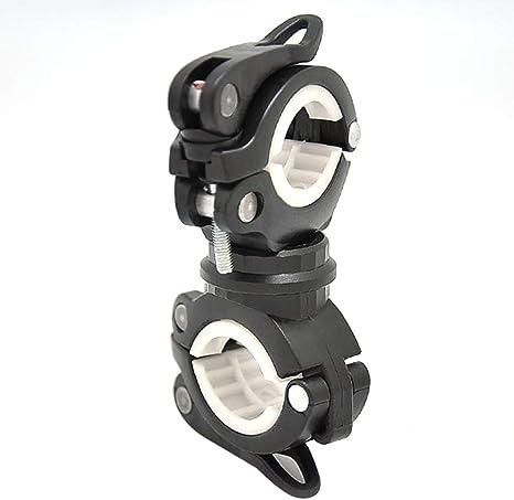 Lorenlli Bicicleta Universal LED Soporte para Montaje en Linterna ...