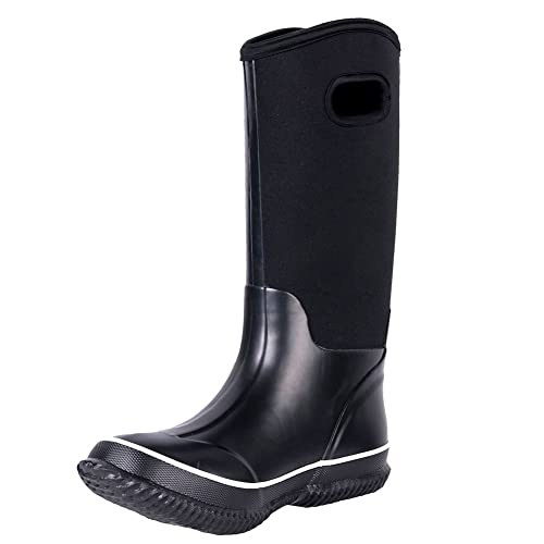 f467ee30e6edd WTW Men's Neoprene Rain Boots Warm Winter Boots Waterproof