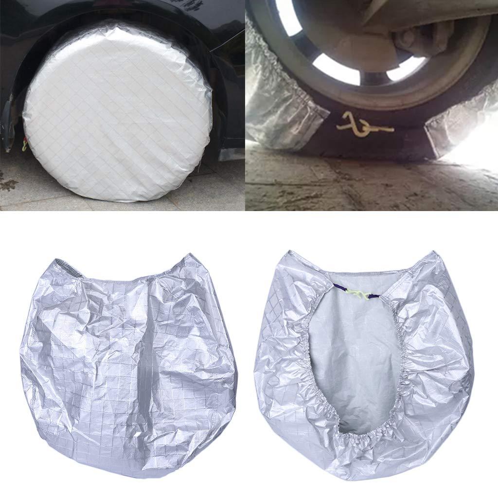 huiouer Cubierta de neum/ático Impermeable pel/ícula de Aluminio Resistente a la Intemperie Sun Protectors Anti-explosi/ón 27 a 29