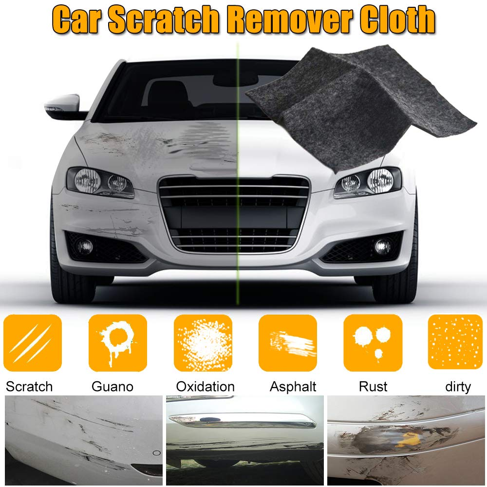 YOOHE Car Scratch Repair Cloth, Multipurpose Scratch Polish Remover Cloth for Scratch Repairing Polish and Light Paint Scratches Remover Scuffs on Surface