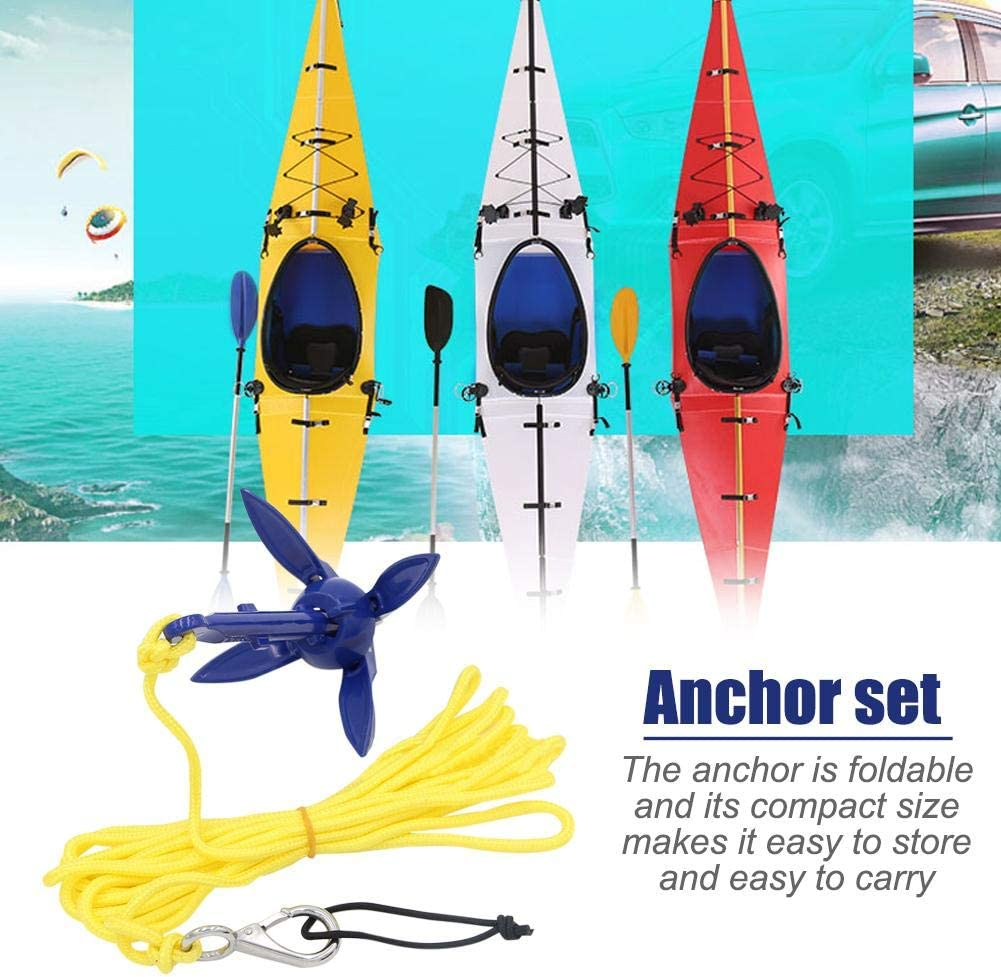 Hainter Small Boat Anchor Kit Grapnel Anchor System for Canoe Jet Ski Motorboat SUP Paddle Board